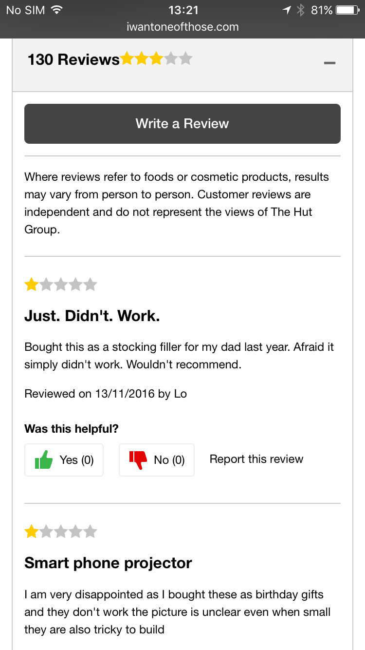 IWOOT.com reviews page